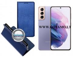 Re-Grid magnetinis dėklas Samsung Galaxy S21 mobiliesiems telefonams mėlynos spalvos