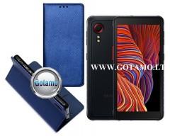Re-Grid magnetinis dėklas Samsung Galaxy Xcover 5 mobiliesiems telefonams mėlynos spalvos
