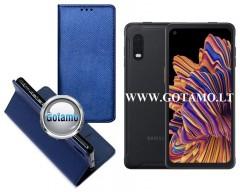 Re-Grid magnetinis dėklas Samsung Galaxy Xcover Pro telefonams mėlynos spalvos