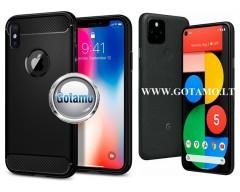 Siege dėklas nugarėlė Google Pixel 5 mobiliesiems telefonams juodos spalvos