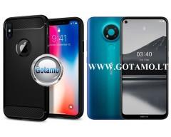 Siege dėklas nugarėlė Nokia 3.4, Nokia 5.4 mobiliesiems telefonams juodos spalvos