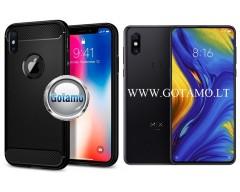Siege dėklas nugarėlė Xiaomi Mi Mix 3 mobiliesiems telefonams juodos spalvos