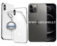 Skin silikoninis dėklas 2MM storio Apple iPhone 12, Apple iPhone 12 Pro telefonams