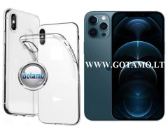Skin silikoninis dėklas 2MM storio Apple iPhone 12 Pro Max telefonams