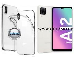Skin silikoninis dėklas 2MM storio Samsung Galaxy A12 Samsung Galaxy M12 telefonams