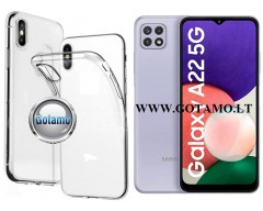 Skin silikoninis dėklas 2MM storio Samsung Galaxy A22 5G telefonams