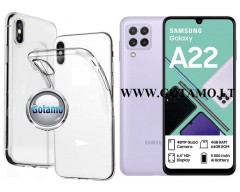 Skin silikoninis dėklas 2MM storio Samsung Galaxy A22 telefonams