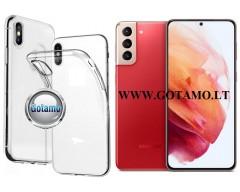 Skin silikoninis dėklas 2MM storio Samsung Galaxy S21+ 5G telefonams