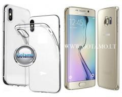 Skin silikoninis dėklas Samsung Galaxy S6 edge telefonui