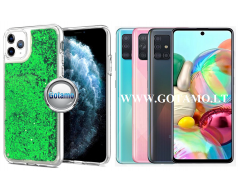 Waterfall2 dėklas nugarėlė Samsung Galaxy A71 telefonams žalios spalvos