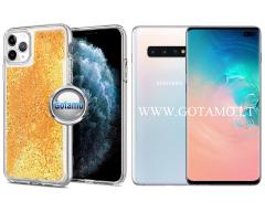 Waterfall2 dėklas nugarėlė Samsung Galaxy S10+ telefonams aukso spalvos