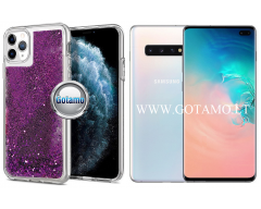 Waterfall2 dėklas nugarėlė Samsung Galaxy S10+ telefonams violetinės spalvos