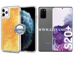 Waterfall2 dėklas nugarėlė Samsung Galaxy S20+ telefonams aukso spalvos