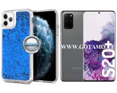 Waterfall2 dėklas nugarėlė Samsung Galaxy S20+ telefonams mėlynos spalvos