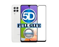Apsauga ekranui gaubtas grūdintas stiklas Samsung Galaxy A22 mobiliesiems telefonams juodos spalvos 5D pilnas padengimas klijais