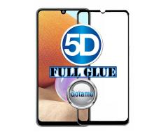 Apsauga ekranui gaubtas grūdintas stiklas Samsung Galaxy A32 mobiliesiems telefonams juodos spalvos 5D pilnas padengimas klijais