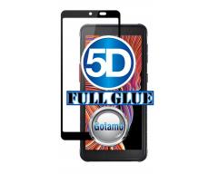 Apsauga ekranui gaubtas grūdintas stiklas Samsung Galaxy Xcover 5 mobiliesiems telefonams juodos spalvos 5D pilnas padengimas klijais