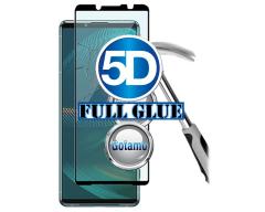 Apsauga ekranui gaubtas grūdintas stiklas Sony Xperia 5 III mobiliesiems telefonams juodos spalvos 5D pilnas padengimas klijais
