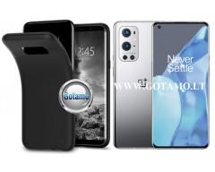 B-matte dėklas nugarėlė OnePlus 9 Pro mobiliesiems telefonams juodos spalvos