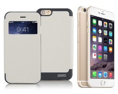 Bumper View dėklas Apple iPhone 6 6s mobiliesiems telefonams baltos spalvos