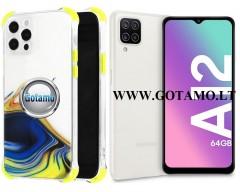 ColorWave dėklas nugarėlė Samsung Galaxy A12 Samsung Galaxy M12 telefonams geltonos spalvos