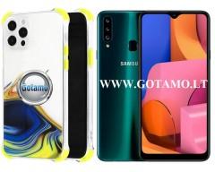 ColorWave dėklas nugarėlė Samsung Galaxy A20s telefonams geltonos spalvos