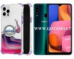 ColorWave dėklas nugarėlė Samsung Galaxy A20s telefonams violetinės spalvos