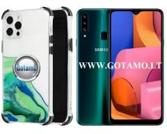 ColorWave dėklas nugarėlė Samsung Galaxy A20s telefonams žalios spalvos