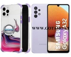 ColorWave dėklas nugarėlė Samsung Galaxy A32 telefonams violetinės spalvos