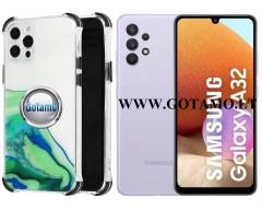 ColorWave dėklas nugarėlė Samsung Galaxy A32 telefonams žalios spalvos