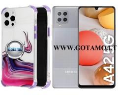 ColorWave dėklas nugarėlė Samsung Galaxy A42 5G telefonams violetinės spalvos