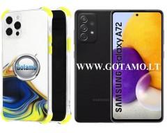 ColorWave dėklas nugarėlė Samsung Galaxy A72 telefonams geltonos spalvos