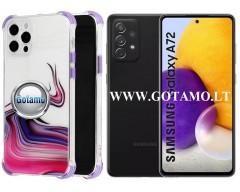 ColorWave dėklas nugarėlė Samsung Galaxy A72 telefonams violetinės spalvos