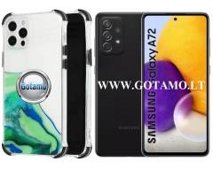 ColorWave dėklas nugarėlė Samsung Galaxy A72 telefonams žalios spalvos