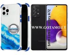 ColorWave dėklas nugarėlė Samsung Galaxy A72 telefonams žydros spalvos