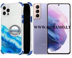 ColorWave dėklas nugarėlė Samsung Galaxy S21 telefonams žydros spalvos