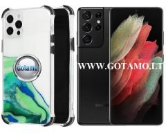 ColorWave dėklas nugarėlė Samsung Galaxy S21 Ultra telefonams žalios spalvos