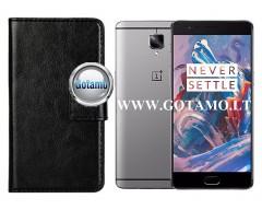 Diary Mate dėklas OnePlus 3 3T mobiliesiems telefonams juodos spalvos