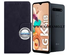 Diary Mate2 dėklas LG K41S mobiliesiems telefonams juodos spalvos