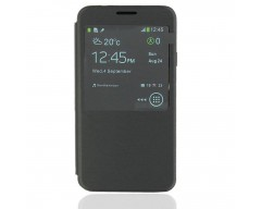 Diary Talk dėklas Samsung Galaxy Note 3 Neo telefonams juodos spalvos