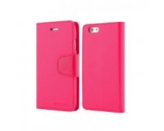 Goospery Sonata Diary dėklas Apple iPhone 6 6s telefonams rožinės spalvos