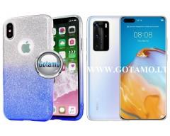 iLLuminaTe silikoninis dėklas nugarėlė Huawei P40 Pro telefonams žydros spalvos