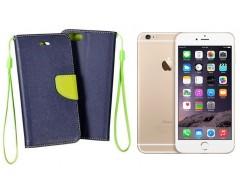 Manager dėklas Apple iPhone 6 Plus 6s Plus mobiliesiems telefonams mėlynos spalvos