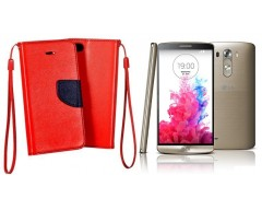 Manager dėklas LG G3 S mobiliesiems telefonams raudonos spalvos