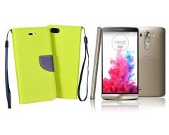 Manager dėklas LG G3 S mobiliesiems telefonams salotinės spalvos