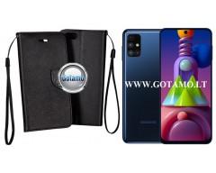 Manager dėklas Samsung Galaxy M51 mobiliesiems telefonams juodos spalvos