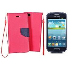 Manager dėklas Samsung Galaxy S3 mini mobiliesiems telefonams rožinės spalvos