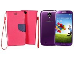 Manager dėklas Samsung Galaxy S4 mobiliesiems telefonams rožinės spalvos
