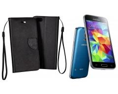 Manager dėklas Samsung Galaxy S5 mini mobiliesiems telefonams juodos spalvos