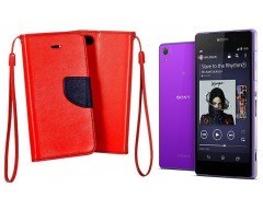 Manager dėklas Sony Xperia Z2 mobiliesiems telefonams raudonos spalvos